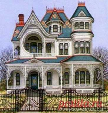 """The Hutchinson House 1903 (rear view) Ypsilanti, MI I love the """"Queen Anne"""" style homes and one of my friends on facebook loves the """"Victorians"""". I thought Queen Anne homes were Victorians and…"""
