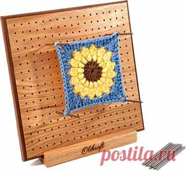 Amazon.com: Olikraft Handcrafted Wooden Blocking Board - Excellent Gifts for Knitting Crochet and Granny Squares Lovers - Full Kit with 50 4-inches Stainless Steel Rod Pins, Stand Included (11 inches)