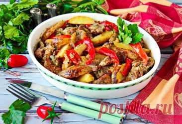 Свинина в духовке с овощами и картошкой запеченная рецепт с фото пошагово - 1000.menu