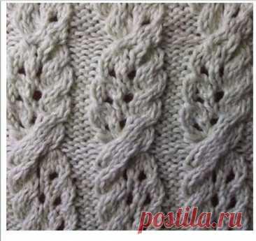 Косы в ажуре. Подборка узоров для вязания спицами. | Блог заботливой хозяюшки | Яндекс Дзен