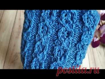 УЗОРЫ СПИЦАМИ! Супер классный узор спицами для вязания носков, свитеров и всего что душа желает