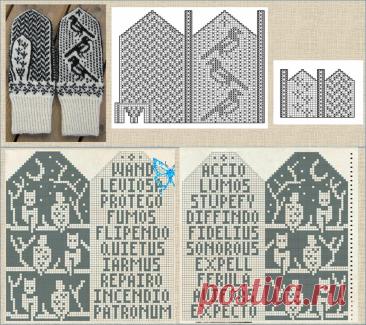 50 вариантов схем и моделей для вязания жаккардовых варежек - в копилку вязальщицы