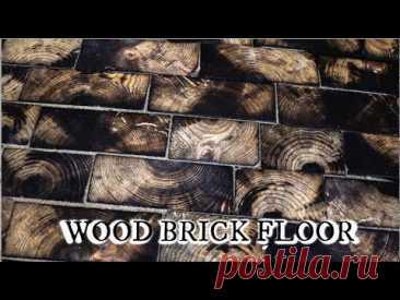 Деревянная брусчатка для укладки пола в мастерской / Я - суперпупер