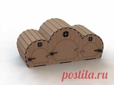Купить деревянный домик для хомяка на заказ