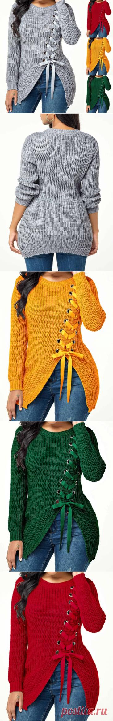 Свободный пуловер Slim Fit, трикотажные свитера,