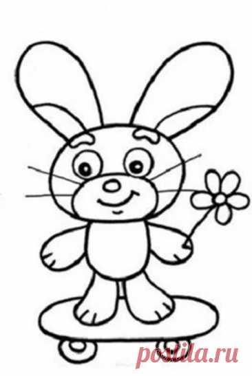 Рисуем с детьми зайку