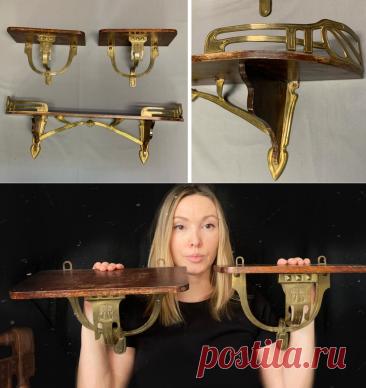 Как выглядят предметы мебели в стиле Ар-нуво? Показываю на примере старинных полок | Decoro-быт станет уютом | Яндекс Дзен