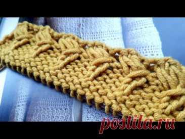 Шикарная кайма на спицах для вашего изделия 🍂 knitting pattern.