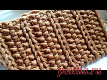 Вяжем креативные рисовые дорожки 📣  knitting pattern. - YouTube
