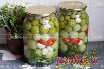 Зеленые помидоры острые на зиму – рецепт приготовления с фото от Kulina.Ru