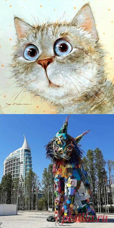 35 прелестных котиков в работах разных художников   Глазами художника   Яндекс Дзен