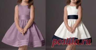 Праздничное платье для девочек - бесплатные выкройки