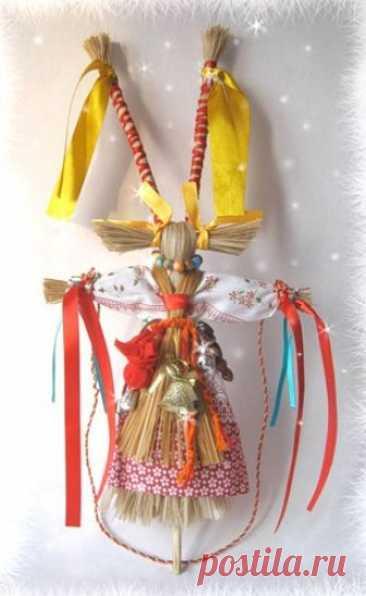 МК Коза Обрядовая кукла Коза — символ жизненной силы. Она обязательна в обряде святочно-рождественского колядования, (обхода дворов ряжеными). У славян — это и символ плодородия, также Коза — амулет хорошего настроения. Одевали куклу Козу в праздничные нарядные одежды и вручали ей обрядовые предметы:…