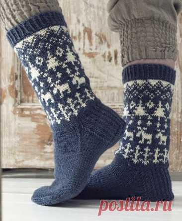 Новогодние носки спицами со схемами. Зимние рождественские орнаменты. Альтернативные варианты носков для подарка на Новый год.