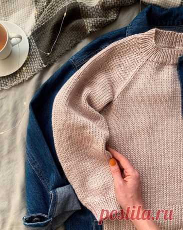 Базовый свитер от https://www.instagram.com/kristina_panfilova
