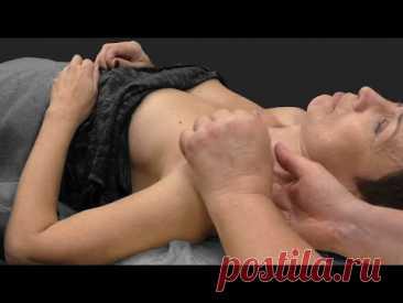 Восстановление питания молочных желез и подвижности лопатки через воздействие на надлопаточный нерв - YouTube