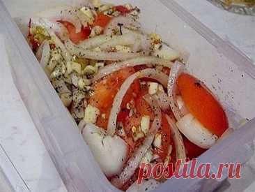 Приготовьте к мясу супер закуску из помидоров и лука. Результат вам понравиться! - Кулинария, красота, лайфхаки