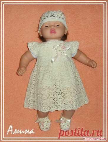 #Нежный кружевной комплект для девочки. - Вязание для детей - Страна Мам