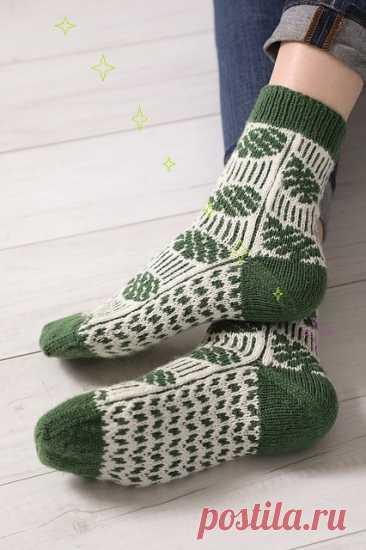 Носки Frondescent Socks, вяжем спицами