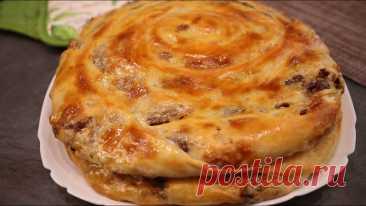 Улитки с мясной начинкой в духовке. Пирог, который потребует минимум усилий | Покулинарим | Пульс Mail.ru