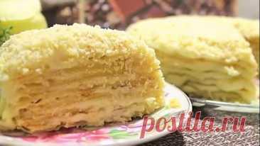 """#Торт """"#Наполеон"""" #на #сковороде! #Невероятный #нежный #десерт!"""