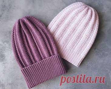 3 красивые модные шапки, связанные спицами (с описанием) | Идеи рукоделия | Яндекс Дзен