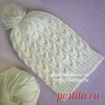 Вязаная шапочка для девочки. Работа Anya, Вязание для детей