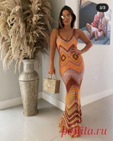 Платье в стиле бохо -миссони крючком