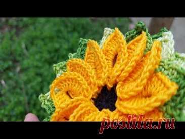 🌸 Crochet flower 🌸 Вязаный цветок 🌸