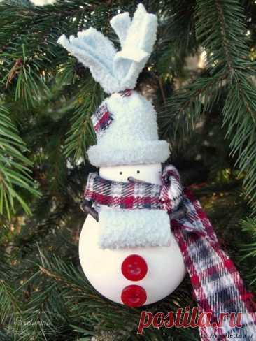 Снеговик из лампочки — DIYIdeas