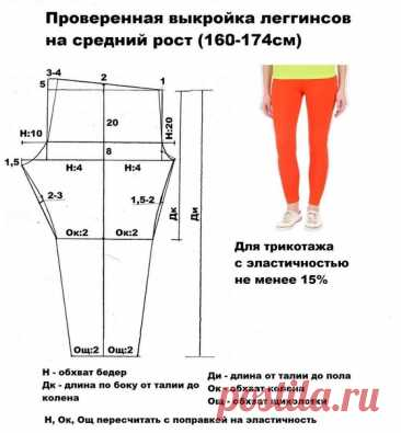 Легинсы на рост 164-174 см