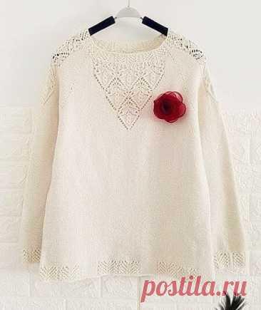 Красивый пуловер реглан спицами с японским узором: описание, схемы узора, видео