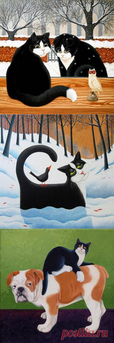Кошки в работах художницы Vicky Mount