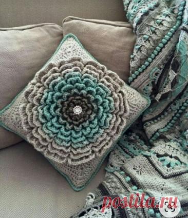 Таких красивых подушек возможно вы еще не видели | Вязание в радость | Яндекс Дзен