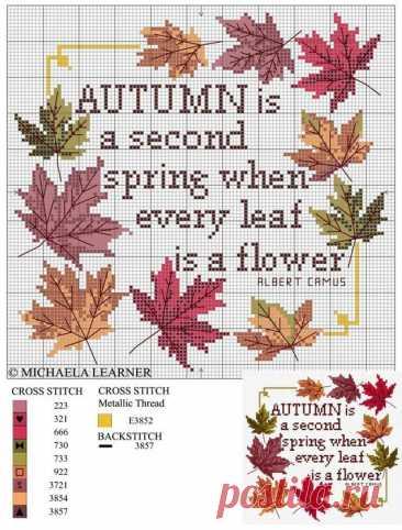 Осенняя пора: 45 простых схем для вышивки   Журнал Ярмарки Мастеров