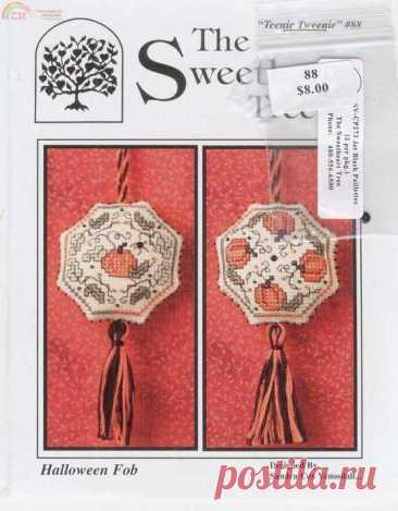 The Sweetheart Tree - Хэллоуин брелок-вышивка крестиком Связь / загрузка (только ответ) -Выкройки для вышивки крестиком Scanned-PinDIY.com