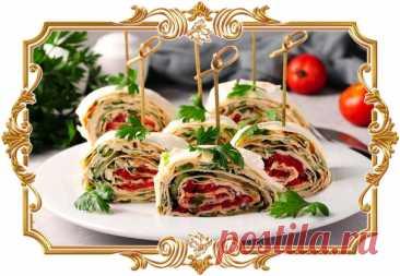 #Рулет #из #лаваша #с #сыром и #овощами (#рецепт #на #скорую #руку)  #Отличная #холодная #закуска, которую можно приготовить #на #завтрак, как дополнение к основным блюдам или на пикник.  Время приготовления: Показать полностью...
