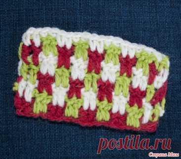 Узор крючком для вязания пледа, коврика, снуда или кардигана - Вязание - Страна Мам