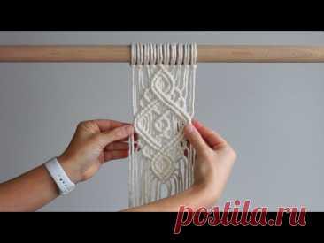 Промежуточный узор  с использованием двойных полусвязывающих узлов! Макраме