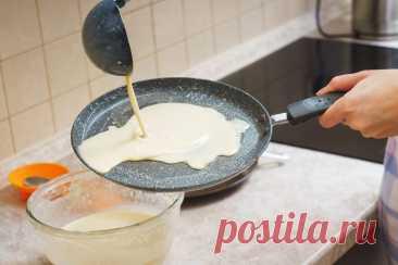 У каких хозяек блины вечно прилипают к сковороде