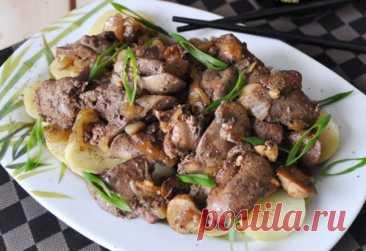 Тёплый салат из печени в китайском стиле - mojakuhnja.ru