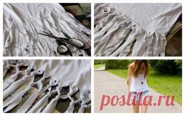 Como de la ropa vieja hacer las nuevas cosas de estilo: 55 ideas de la foto