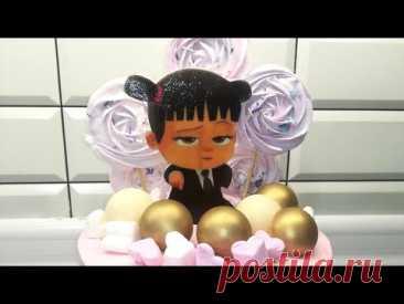 Торт Босс молокосос девочка /торт на годик