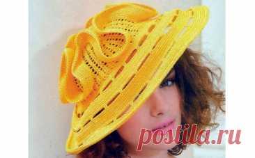 Желтая шляпа от ЛюдмилыОрешкиной