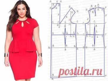 Выкройки красивых платьев для полных женщин