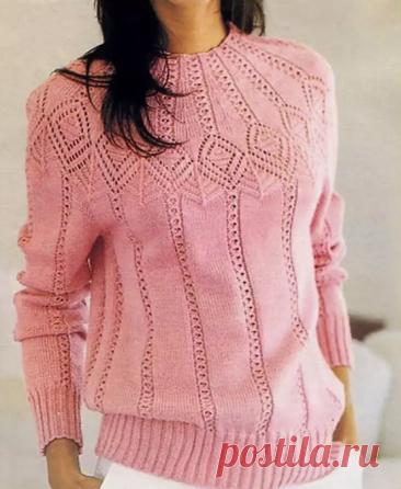 Вяжу свитер из остатков пряжи🧶. Часть №2 подборки ажурных моделей✨.   Мама-универсал   Яндекс Дзен