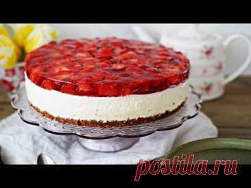 Prosty sernik bez pieczenia z truskawkami i galaretką – Przepis – Mała Cukierenka