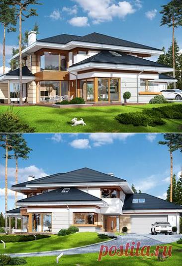 Projekt domu Dom z widokiem 269,44 m² - koszt budowy - EXTRADOM