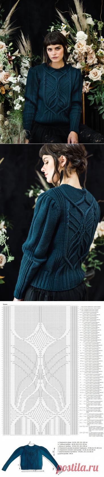 Джемпер Соловей для женщин, связанный спицами,  Вязание для женщин