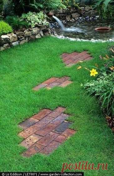 Идеи необычных садовых дорожек